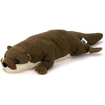 カロラータ コツメカワウソ Lサイズ ぬいぐるみ (検針2度済み) 動物 ねそべりシリーズ [やさしい手触り] お人形 15cm×9cm×46cm