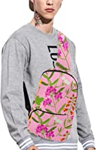 Sling Shoulder Bag Fashion Snapdragon Red Vintage Flower Crossbody Bag Daily Sports Climbing Or Multi-purpose Backpack Men And Women Ladies And Teens