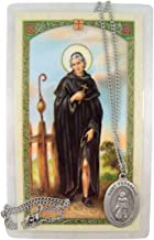 Saint Peregrine The Healer Pray for Us Medal Silver-Toned Medal with Prayer Card