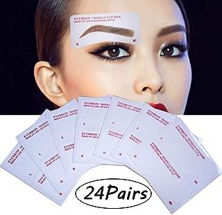 EBANKU 24 Pairs Eyebrow Stencils, 24 Styles Non-Woven Eyebrow Shaping Stencils, Eyebrows Grooming Stencil Kit Eyebrow Template DIY Makeup Beauty Tools