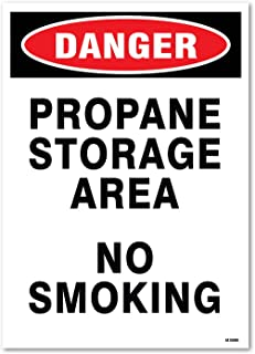 Danger: Propane Storage Area, No Smoking, 14