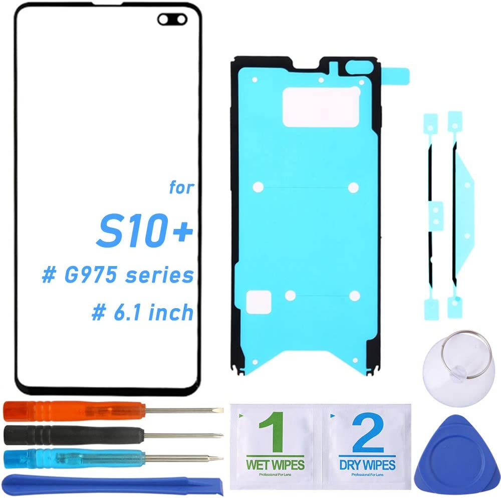Front Glass Screen Outer Lens Replacement for Samsung Galaxy S10+ Plus G975 G975F/DS G975U G975U G975W (6.4