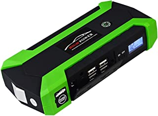 Gr/üN Wasserdicht 9000Mah 4USB EU // UK Stecker 4LED Auto Starter Notfallbatterie Booster Mit Digitalem Bildschirm - Auto Starthilfe Tragbarer Autostarter