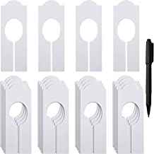 WILLBOND 20 Pack Blank Clothing Rack Size Dividers Rectangular Closet Dividers for Home Closet Cloth Store