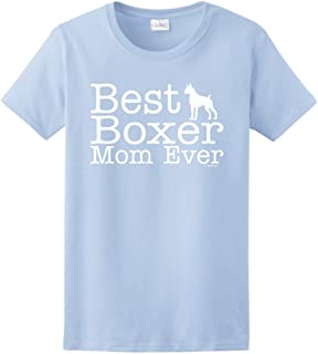 ThisWear Dog Lover Gift Best Boxer Mom Ever Ladies T-Shirt