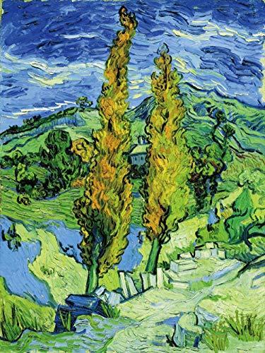 Digitale Schilderij door Getallen Kits Vincent Van Gogh Poplar van Saint Remy Olieverfschilderij op Canvas Muurdecoratie voor Home Gift voor Nieuwe Accommodatie Bruiloft voor Volwassenen Kinderen Beginners