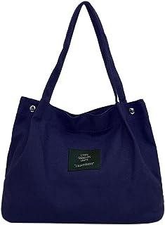 jfhrfged-bag Frauen-Mädchen-Segeltuch-Schulter-Beutel-Buchstabe-Crossbody Handtaschen-Retro einfaches