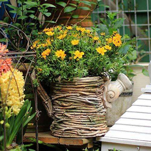 JXXDDQ Ornements de Jardin Rétro Kettle Forme de Fleur Pot d'oxyde de magnésium étanche Jardin Statue Yard Paysage Pelouse Artisanat Décoration Cadeau - 35 * 19 * 23cm