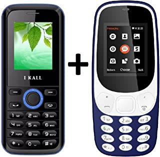 Ikall K3310 (Blue) Special Gift Combo With K18 (Blue) Basic Feature Mobile Phone