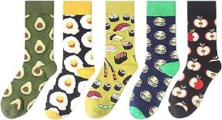 Ruikey 5 Pares Calcetines de comida Medias medias Calcetines de algodón