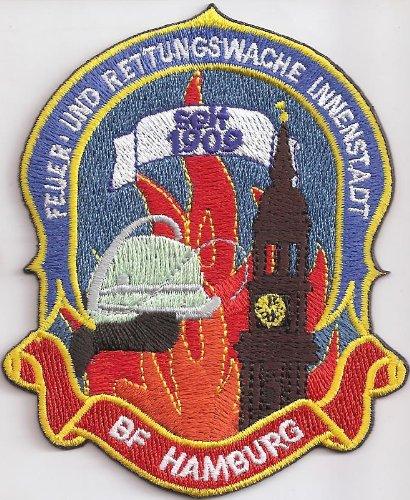 Feuerwehr BF Hamburg Rettungswache Innenstadt Wachwappen Aufnäher Abzeichen