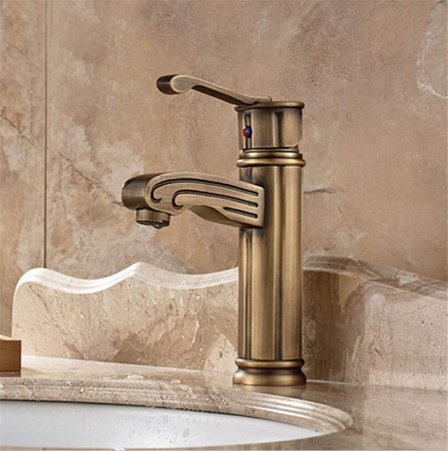 Bathroom Sink Basin Lever Mixer Tap Vintage Copper Copper Faucet Faucet Bathroom Cabinet Faucet