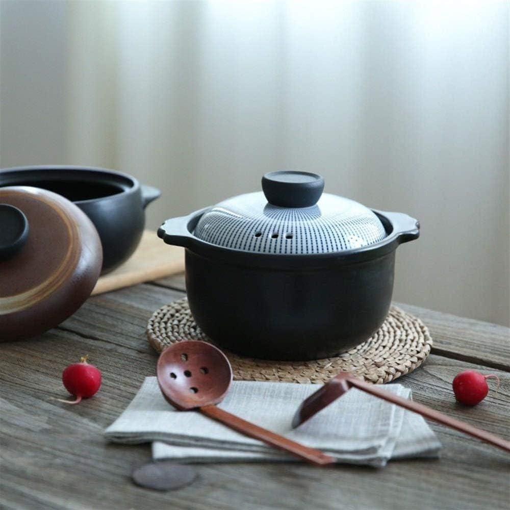 L.TSN Casserole en Argile Pot de Cuisson en Argile Pot à ragoût en céramique Pot à ragoût - Capacité de Casserole Rapide Nutrition Riche 2 Capacité 5L Capacité de 2,5L A