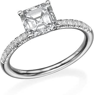 Best asscher cut moissanite vs diamond Reviews