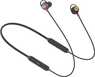 (Renewed) Infinity (JBL) Glide 120 Wireless Bluetooth In Ear Neckband Earphone with Mic (Black & Red)