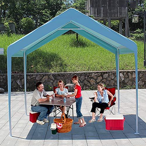 Zhyaj 3 X 3M Garden Heavy Duty Gazebo - Tenda Pieghevole Marquee Tenda per Garden Party Wedding BBQ - Tutte Le Stagioni Patio Gazebo,Blu,3x3M