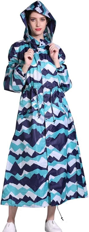bluee Mountain Pattern Extended Lengthening Glue Raincoat Waterproof Raincoat Adult Men and Women Windbreaker Thin Raincoat Poncho