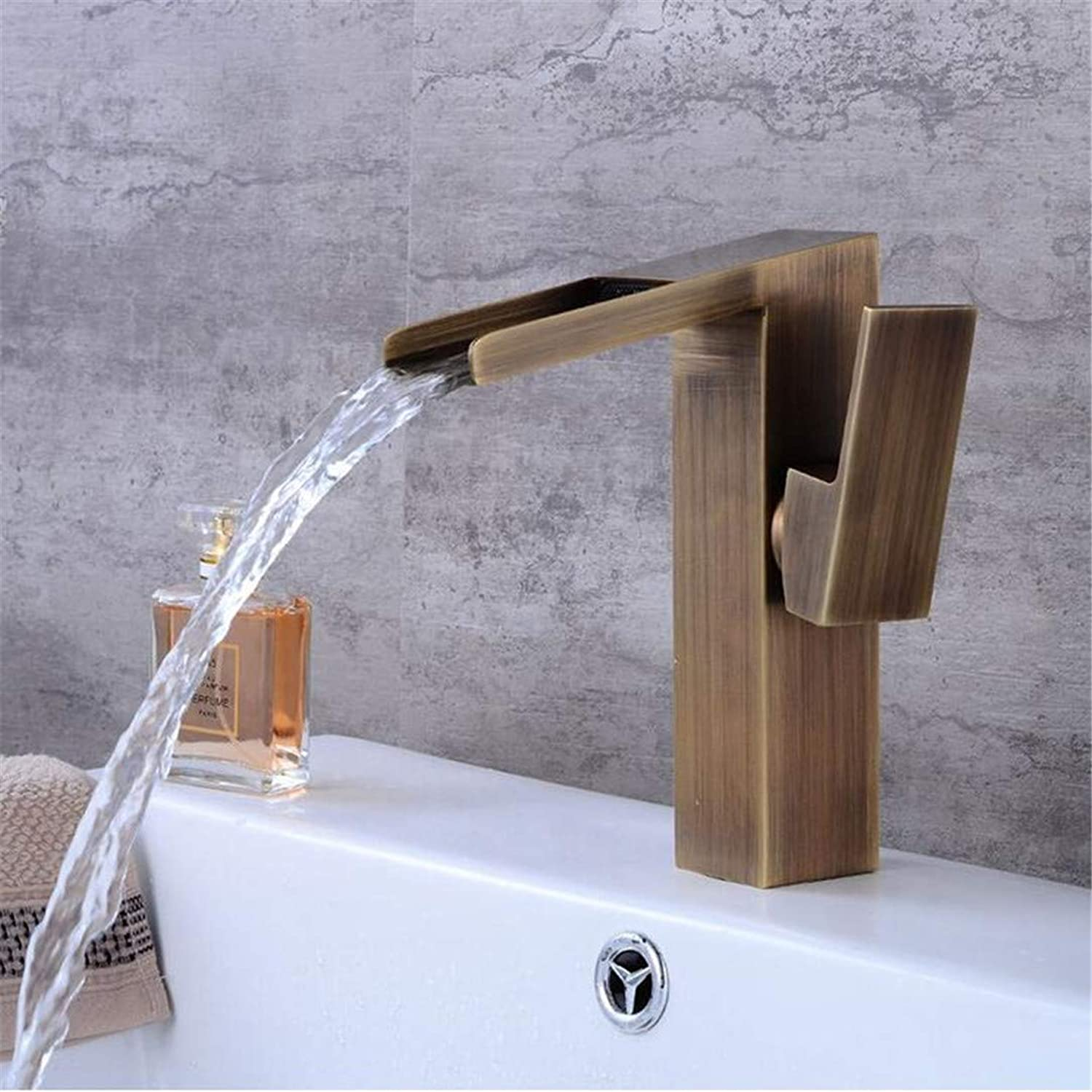 Basin Faucets Classic Antique Brass Higher Bathroom Sink Faucet Single Handle Hole Deck Mount Hot Cold Water Mixer Tap WC Taps