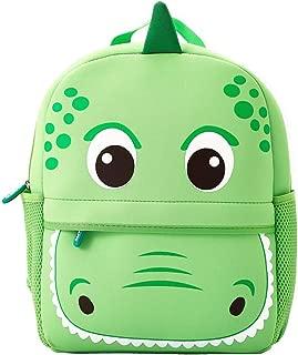 Toddler Backpack, Waterproof Preschool Backpack, 3D Cute Cartoon Neoprene Animal Schoolbag, Lunch Box Carry Bag for 1-6 Years Boys Girls, Green Dinosaur