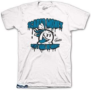 Tee Shirt Match Jordan 11 Blue Snakeskin - Scared Money Tee