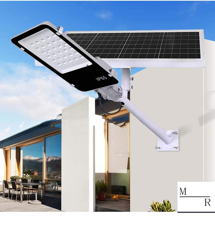 XNCH LED Solar Street Light, IP65 Waterproof Solar Powered Pole Light, 130LM, 6500K (Bright White) Security Area Night Lighting for Street Gutter Patio Garden Solar Light-40