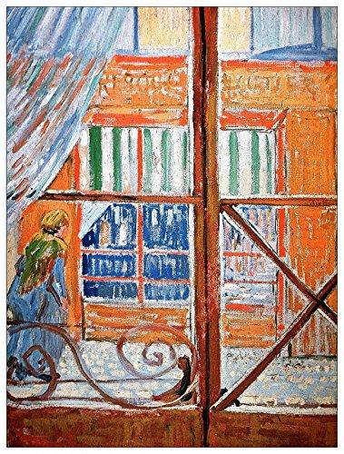 ArtPlaza Van Gogh Vincent-A Varkensvleesslagerij vanuit een raam decoratief paneel