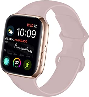 NUKELOLO Sport Band Compatible with Apple Watch 38MM 40MM 42MM 44MM,Soft Silicone Replacement Strap Compatible for Apple W...