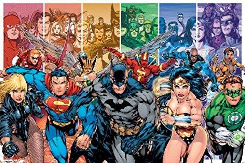 1art1 Justice League - Generations, Batman, Superman, Wonder Woman, Green Lantern Póster (91 x 61cm)