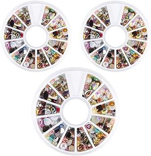 ネイルデコパーツ ネイルパーツ 3D ネイルアートデコレーション DIY ネイルデザイン ミックスパーツ カラフルな宝石 3ボック/スセット ネイル デコ用