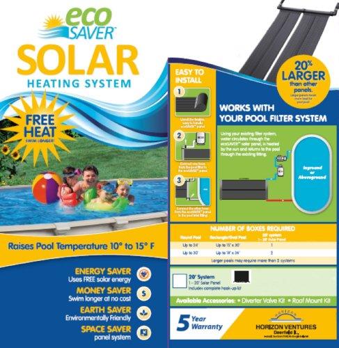 ecoSAVER 20 foot Solar Heating Panel System