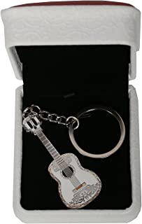 Xcoser Miguel Keychain Deluxe Kirsite Sliver Guitar Fashion Costume Accessory Gift