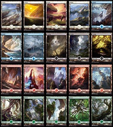 Magic The Gathering: Battle for Zendikar x4 Playset of All 25 Full Art Basic Lands