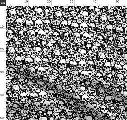 Punk, Totenköpfe, Metall, Halloween, Böse Stoffe - Individuell Bedruckt von Spoonflower - Design von Ben Goetting Gedruckt auf Baumwoll Spandex Jersey