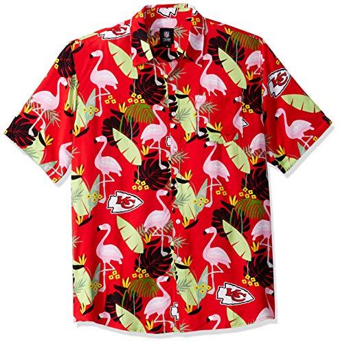 Kansas City Chiefs NFL Mens Floral Button Up Shirt - XL