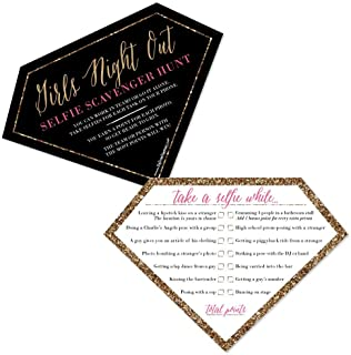 Selfie Scavenger Hunt - Girls Night Out - Party Game - Set of 12