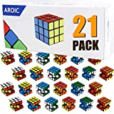 AROIC 21 Pack Mini Cubes, Puzzle Toys, Stress Relief Toys, Party Favors,Birthday Party Gifts,Party Supplies for Boys and Girls.