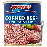 Princes Corned Beef Reducida Sal (340g) (Paquete de 6)
