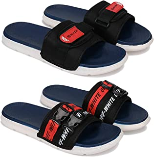 Flipflop & Slipper,Slides , Slip-On for Men Pack of 2COMBO(OR)-1607-1605