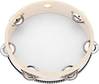 Tambourine for Church 8 اینچ دست نگه دارنده درام بل بلچ توس جزیز آلت موسیقی ساز اسباب بازی آموزشی برای کودکان و نوجوانان مهمانی KTV بازی های Musfunny (8 اینچ)