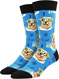 Mens Novelty Crew Socks Science Lab - One Size