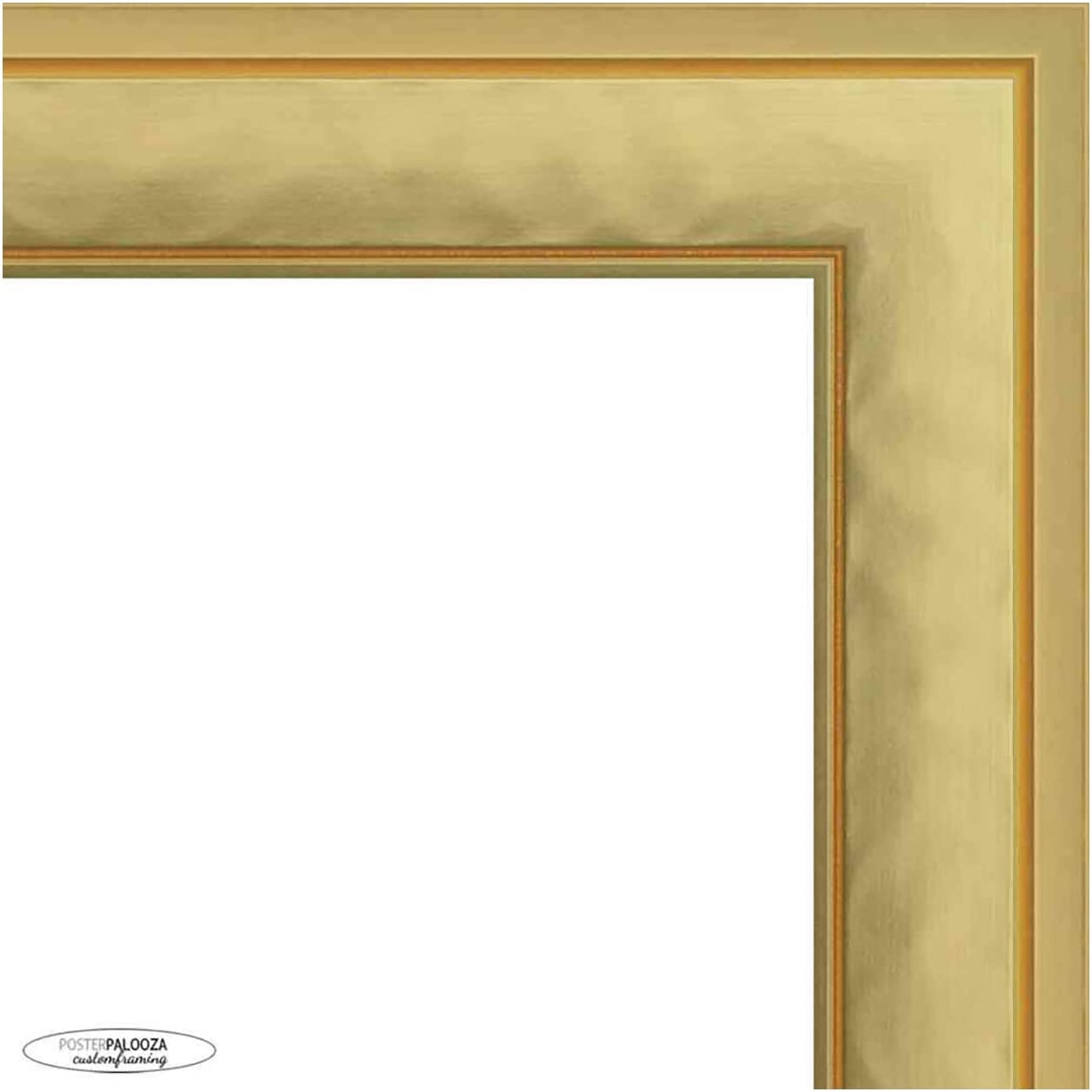 20x14 Contemporary Gold Complete Wood with Frame Acry UV Sales SEAL limited product Picture