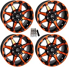 STI HD6 UTV Wheels/Rims Orange/Black 14