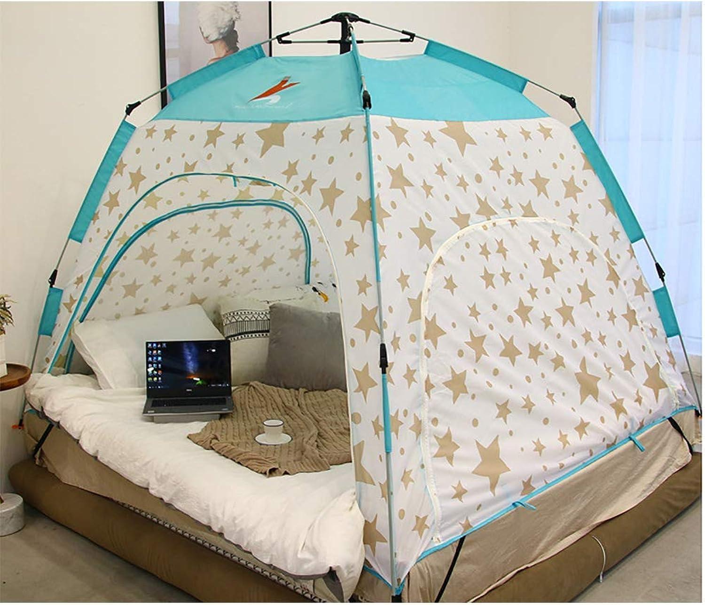 HEXbaby Indoor-Privatsphre und Spielzelt auf dem Bett Schlaf gemütlich in Zugluft Zimmer T Privacy-Zelt auf dem Bett für warm,200  180  135cm