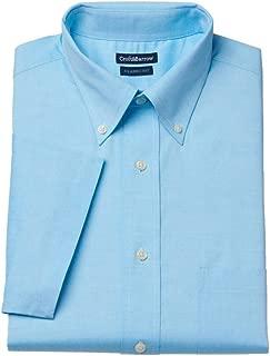 Croft & Barrow Mens Classic Fit Button Down Short Sleeve Dress Shirt Blue