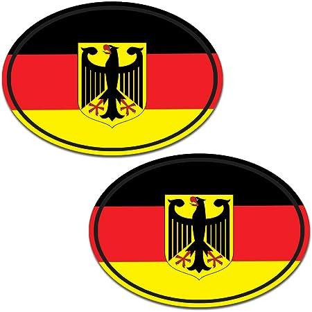 Deutschland D In Zwei Größen Mehrfarbig Autoaufkleber Aufkleber Kfz Flagge Auto