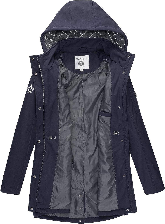Peak Time Damen Softshell Mantel L60013 S-XXL Blau020