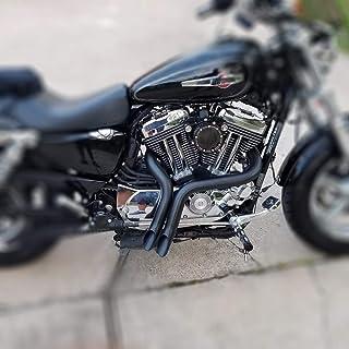 JFG RACING 2 Inch Black LAF Tubos de Escape de Arrastre para Harley-Davidson Sportsters, Baggers, Softails y Customs