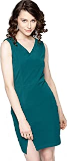 BESIVA Women's Sleeveless Bodycon Dress Green