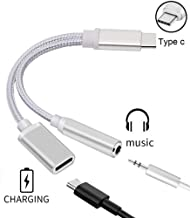 Bukeer USB C to 3.5mm Pixel 2 Headphone Jack Adapter Nylon Braided DAC Chipset Type C to 3.5mm Audio Adapter USB C to 3.5mm with Realtek Noise Reduction Chip for Pixel 2//XL Essential HTC U11