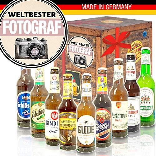 Weltbester Fotograf/Geschenk Fotograf/Deutsche Bier Box